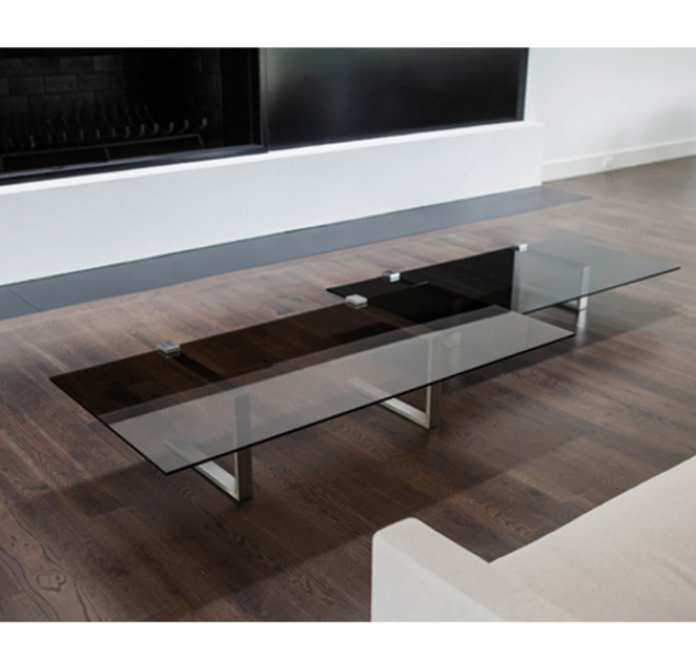 Clasp Table in Brushed Stainless Steel by Douglas Fanning