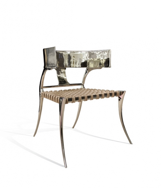 Low Back Nickel Klismos Chair