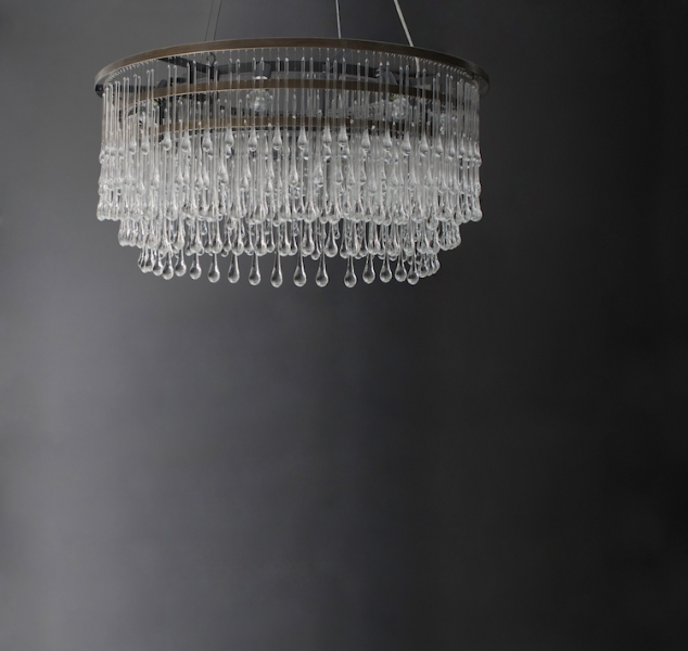 Light Drizzle Chandelier Round by Ochre