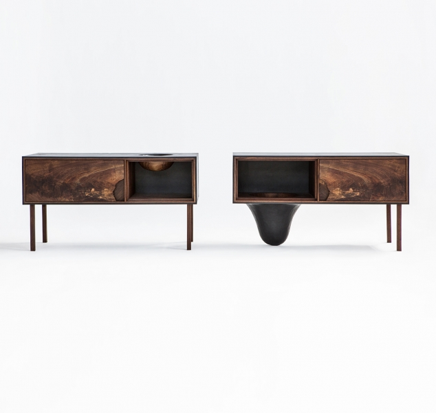Outside In Side Tables by Patrick Weder