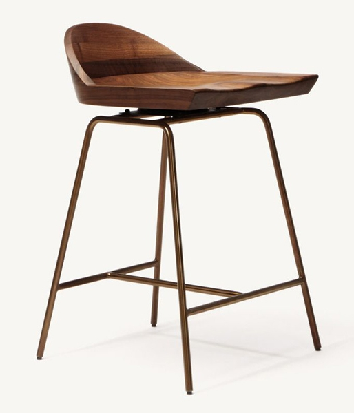 Spindle Low Back Bar Stool by BassamFellows
