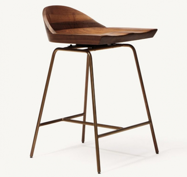 Spindle Low Back Counter Stool by BassamFellows