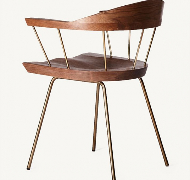 CB-28S Spindle Side Chair by BassamFellows