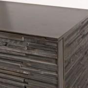 "72"" Charred Wood Cabinet"