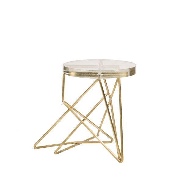 Brass Architect Stool 1
