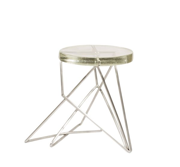 Architect Side Table/Stool, Aluminum by John Liston