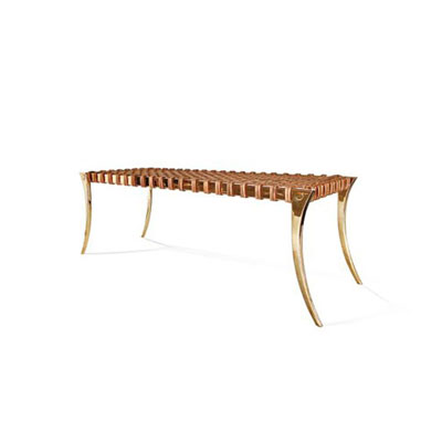 Brass Klismos Bench by Scala Luxury
