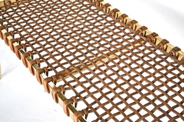 Brass Klismos Bench