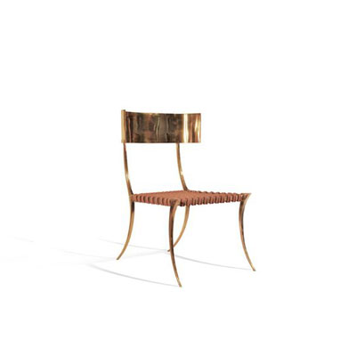 Brass Klismos Chair by Scala Luxury