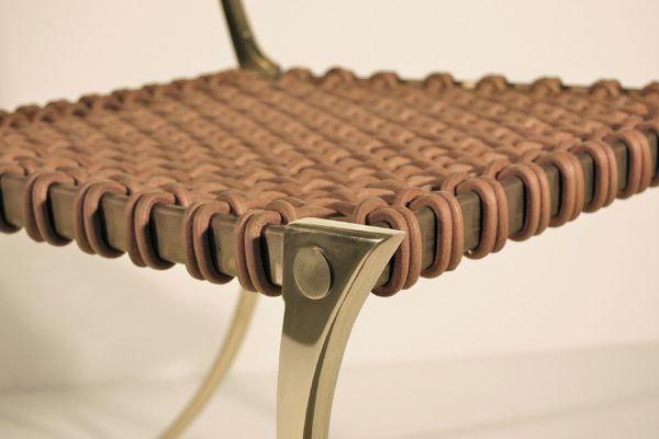 Brass Klismos Chair