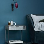 Low Moon Side Table With Drawer