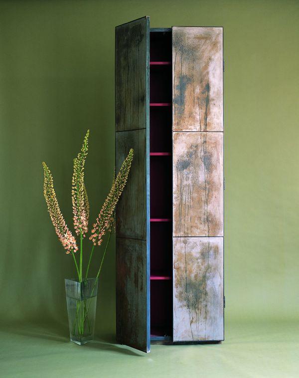 Tarnished Steel Cupboard by Ochre