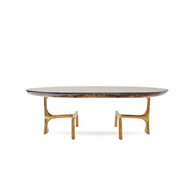 Uovo Ice Resin Cocktail Table by Scala Luxury
