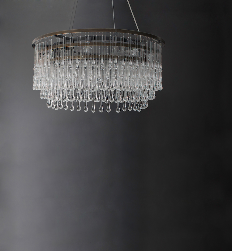 Light Drizzle Chandelier, Round by OCHRE