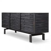 "Charred Wood Cabinet 72"""