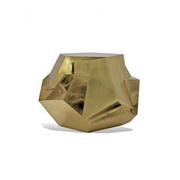 Kryptonite Brass Side Table