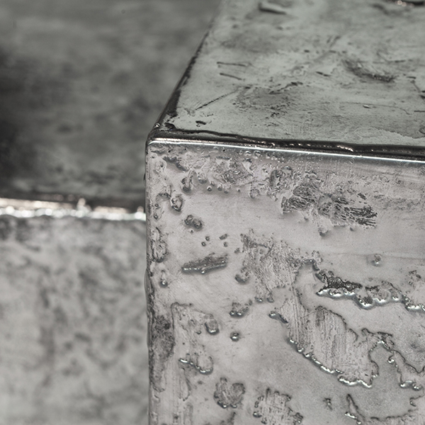 Pewter Landscape Cocktail Table by Gentner