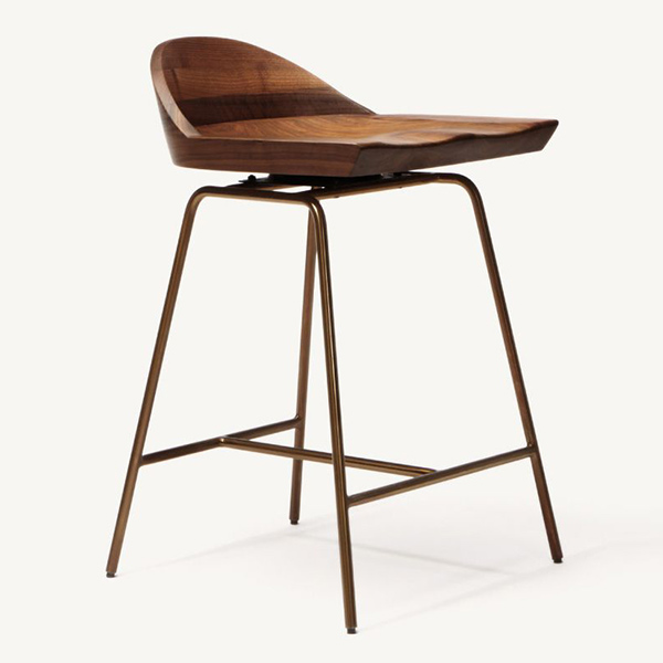 CB-283 Spindle Low Back Bar Stool by BassamFellows