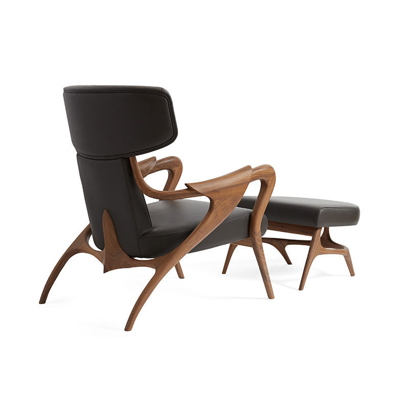 Isadora Lounge Chair & Pouf by Agrippa