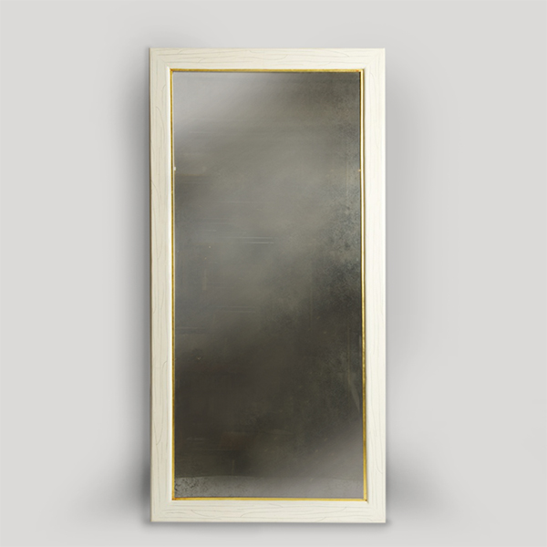 Ivory Antique Mirror by Elan Atelier