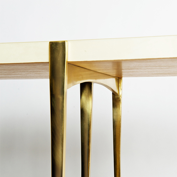 Polished Katana Console by Elan Atelier