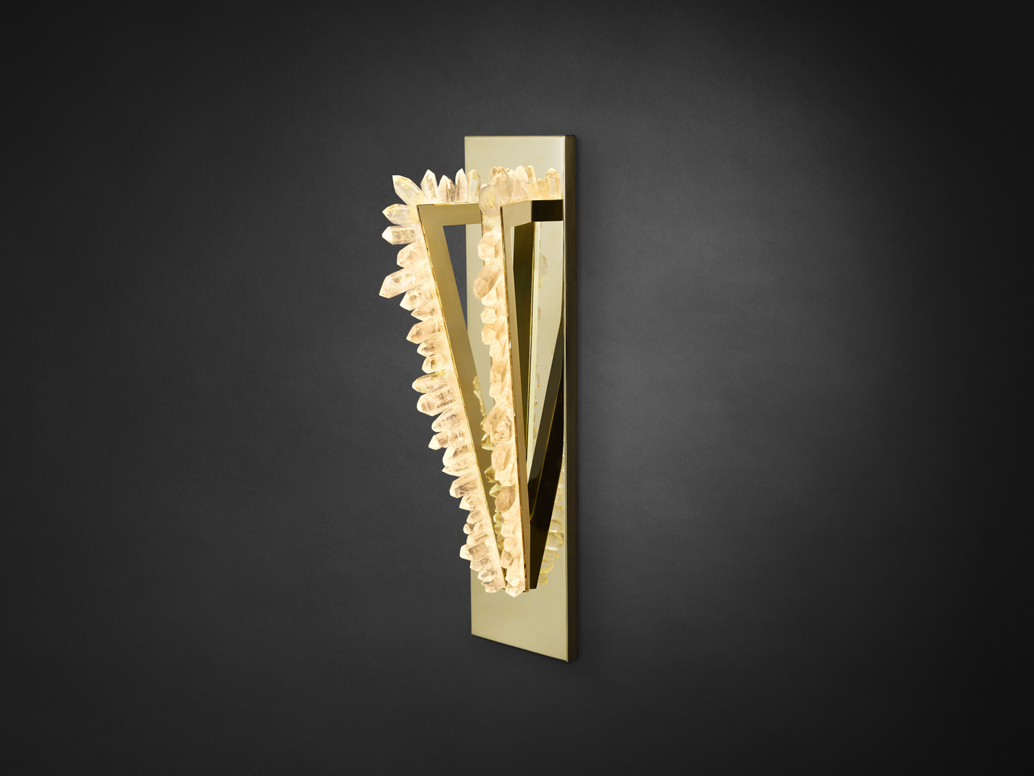 Crystal Pythagoras – Twin Sconce by Christopher Boots