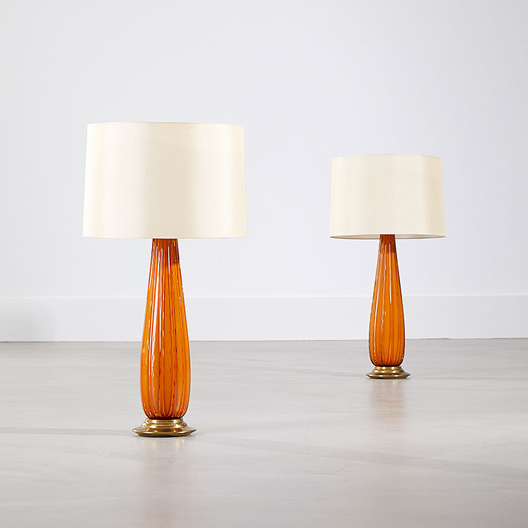 Pair of Venezia Table Lamps by Barovier & Toso