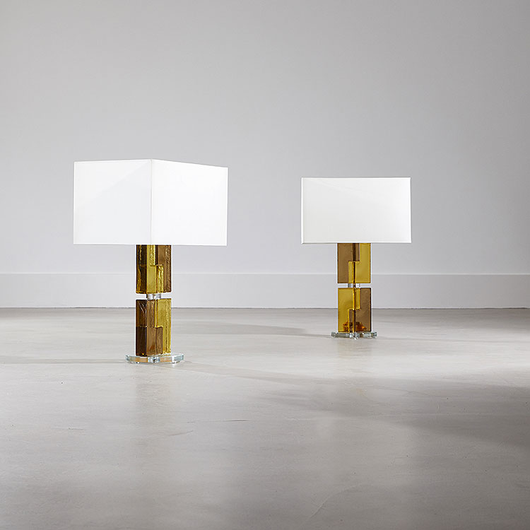 Pair of Braque Table Lamps