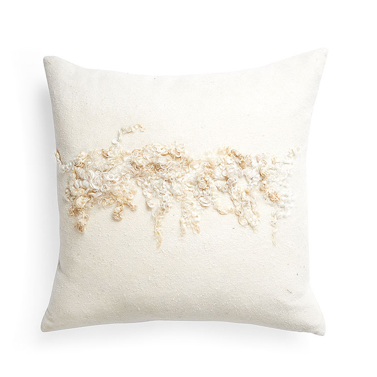 Wensleydale Wool Pillow – White