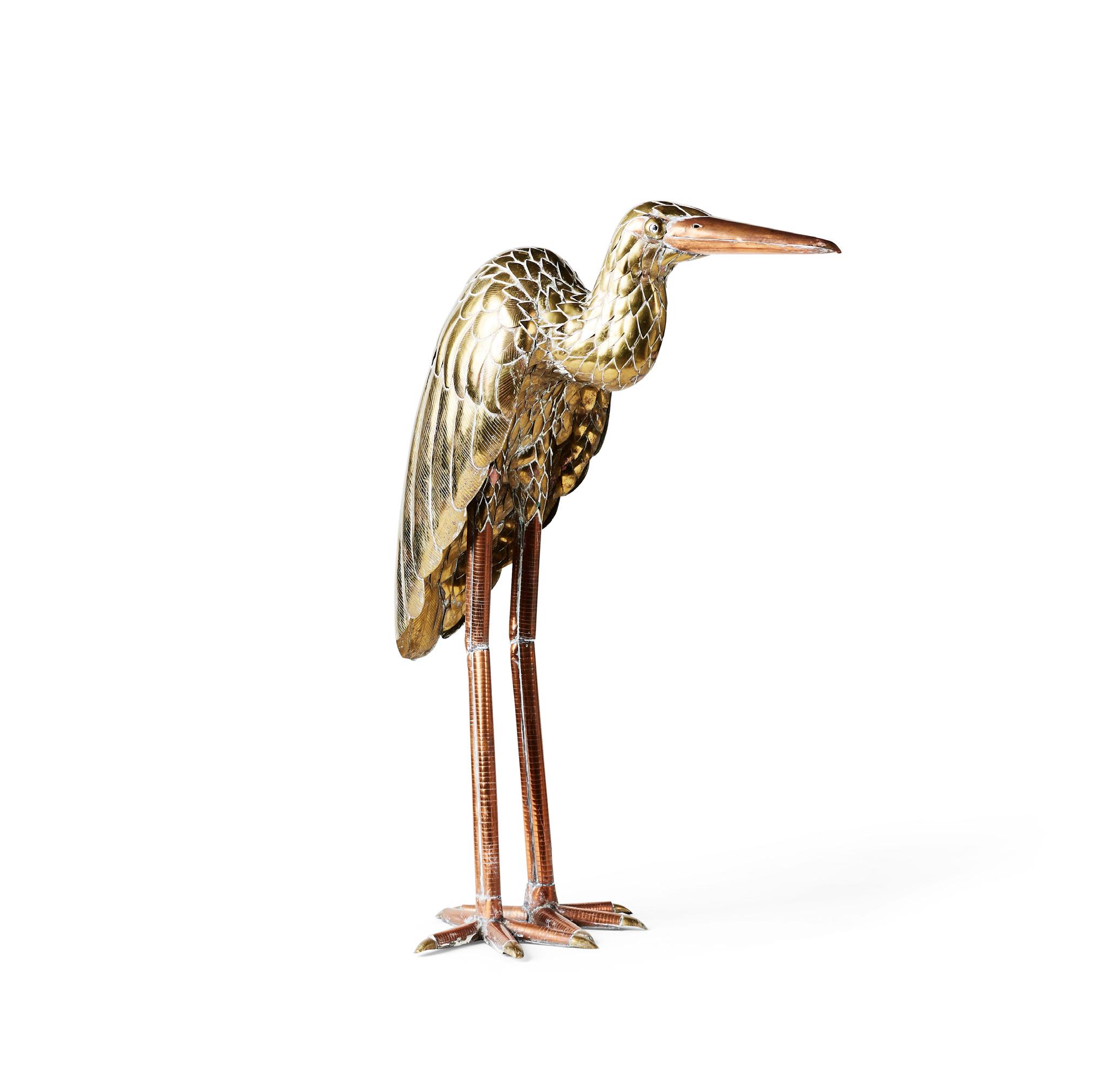 Brass Heron by Sergio Bustamante