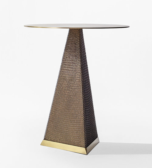 Armor Triangle Side Table by konekt
