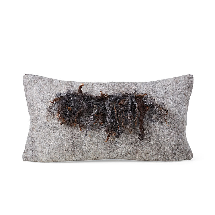 Wensleydale Wool Pillow – Grey