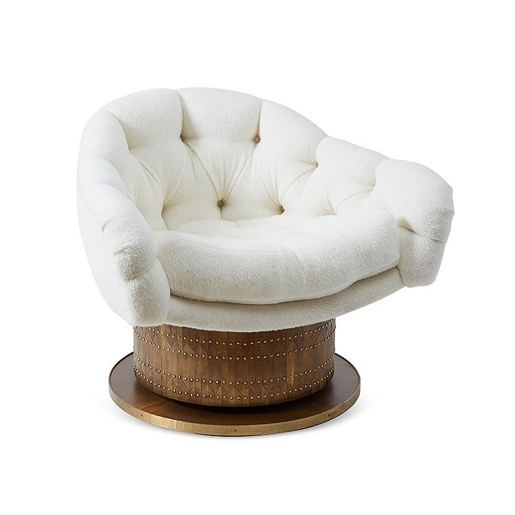 Turn Around Swivel Club Chair by Damian Jones for COUP STUDIO