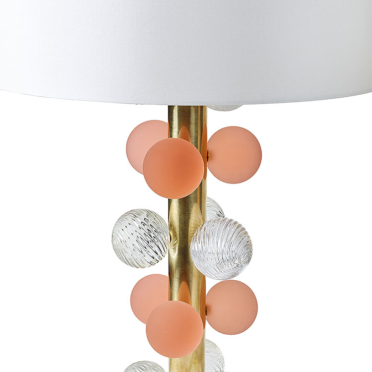Pair of Rose Bubbles Table Lamps