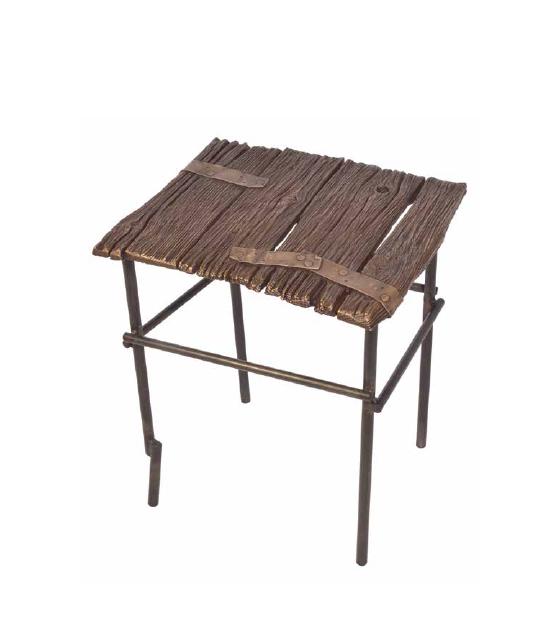 Old Oak Side Table by Chuck Moffit