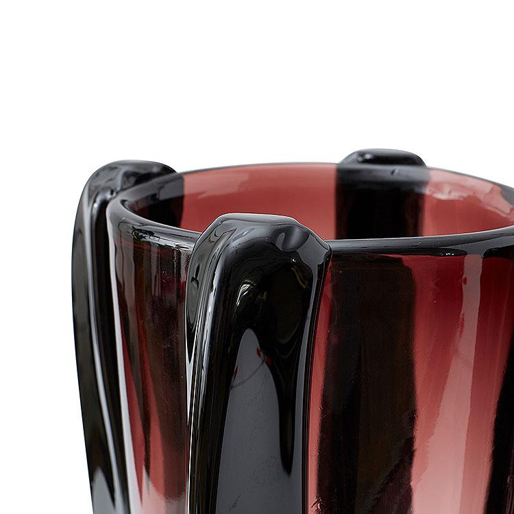 Pair of Aubergine Vases
