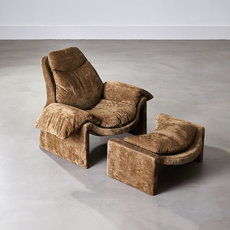 P60 Lounge Chair with Ottoman by Vittorio Introini