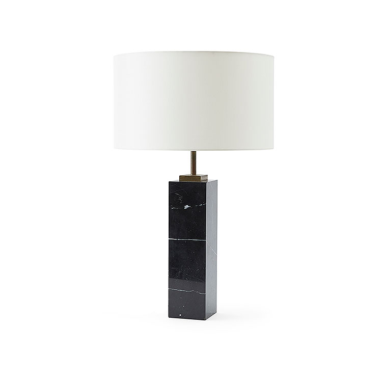 Black Marble Table Lamp
