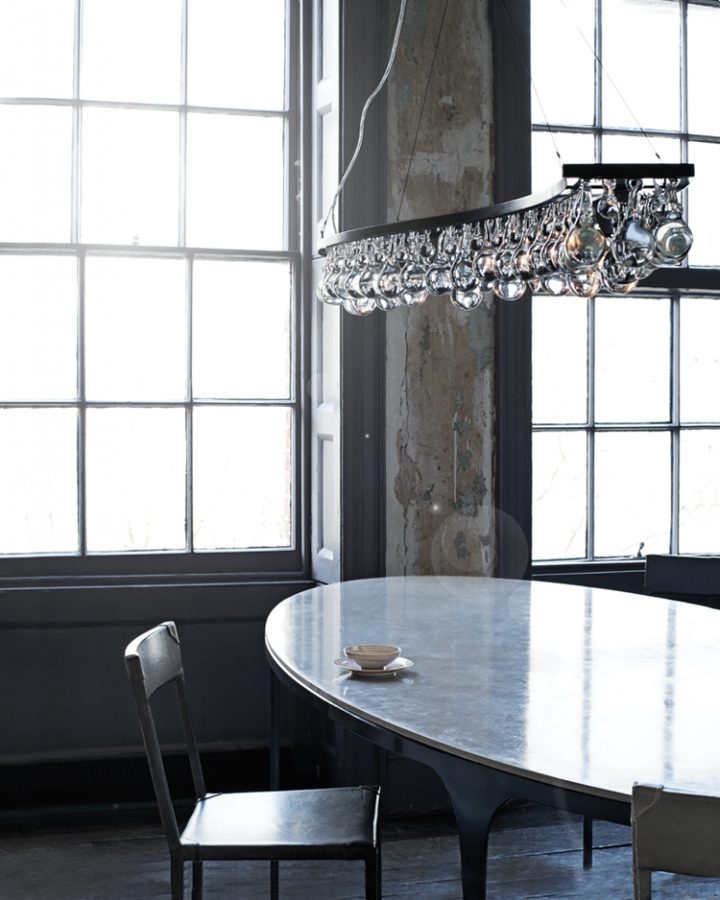 Arctic Pear Chandelier, Single Wave by OCHRE