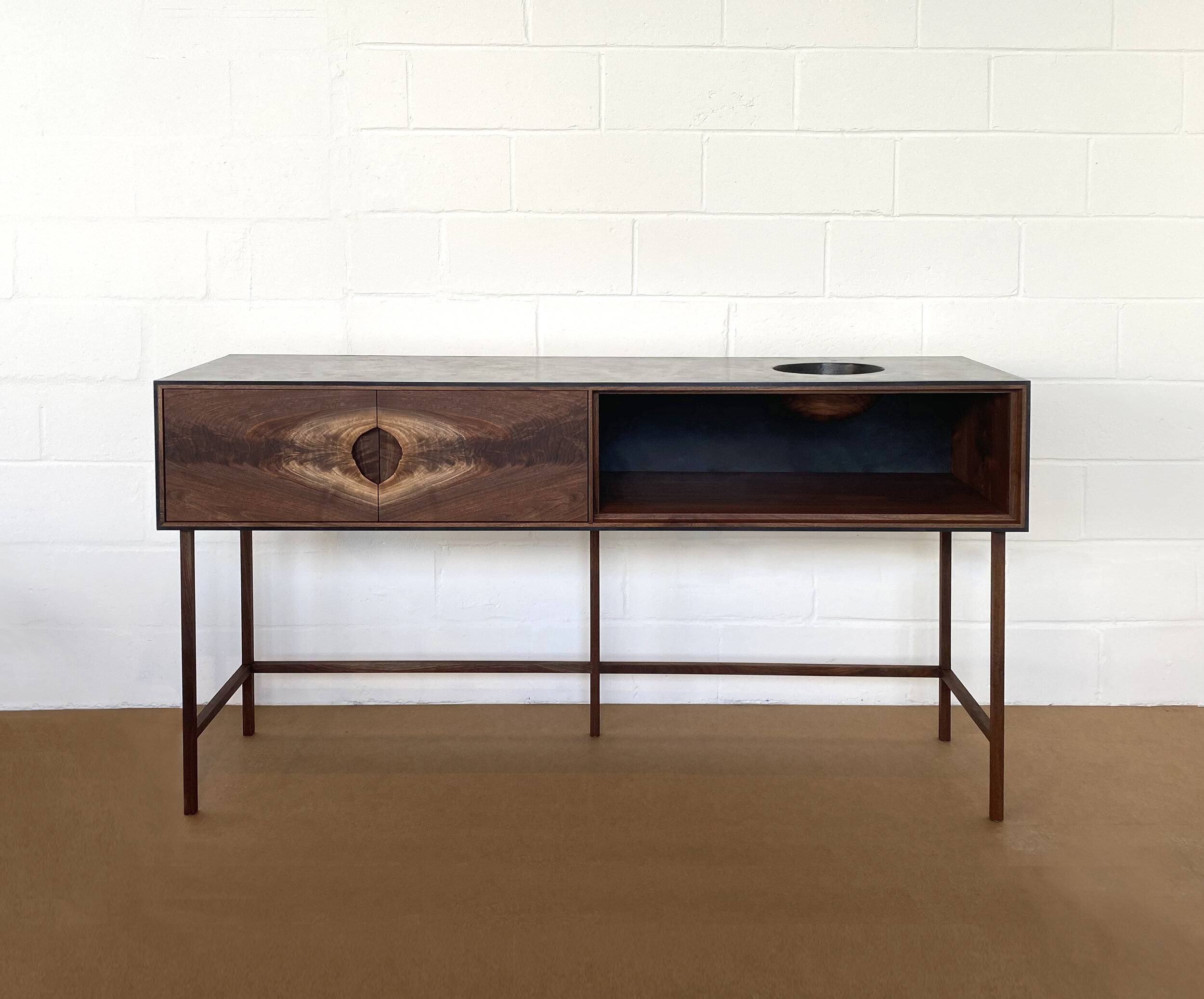 Outside In Console Walnut by Patrick Weder