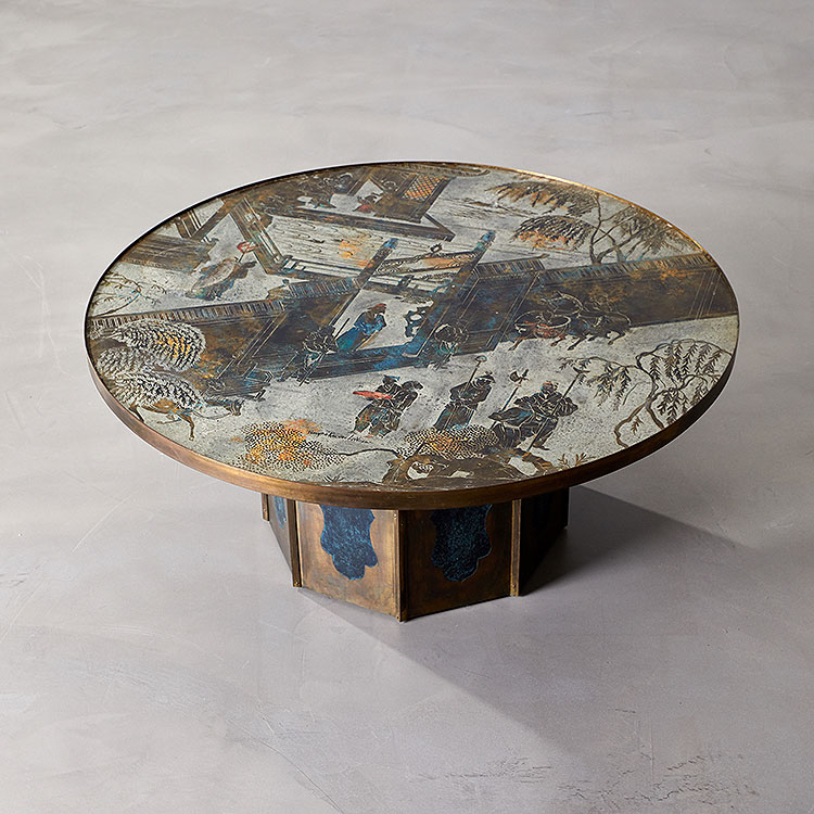 Chan Cocktail Table by Philip & Kelvin LaVerne