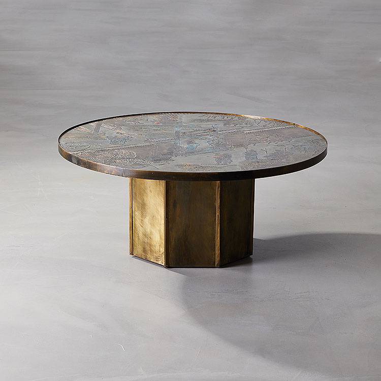 Chan Cocktail Table (without panels) by Philip & Kelvin LaVerne