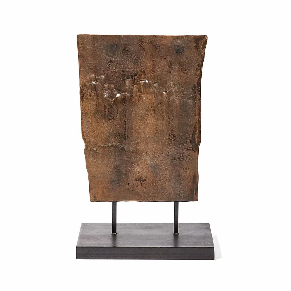 Medium Shield Sculpture by Chuck Moffit