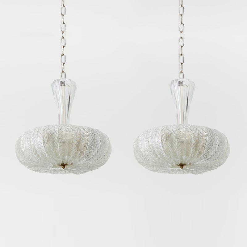 Floreale Murano Pendants by Barovier